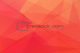 Abstract red polygonal geometric background made of triangles.