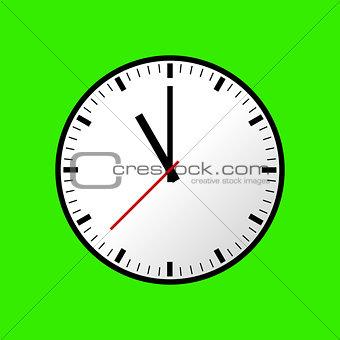 Clock icon, Vector illustration, flat design EPS10