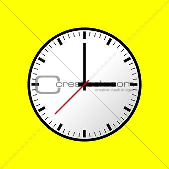 Clock icon, Vector illustration, flat design EPS10