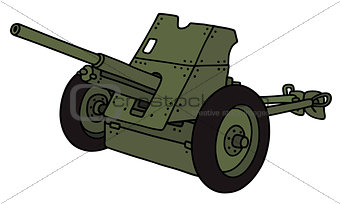 Old khaki cannon