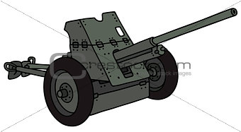 Old khaki cannon