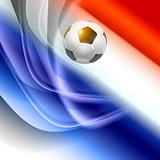 Football background with france flag colors.