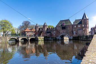 Amersfoort Medieval town wall Koppelpoort and the Eem river