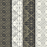 Set of geometrical thin line hipster patterns.