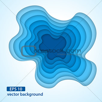 Abstract material layered hole background.
