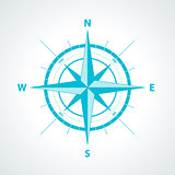 Simple wind rose isolated vector illustration.