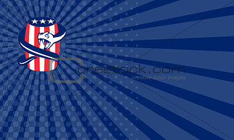 Business card Viper Coiling Up Keg USA Flag Retro