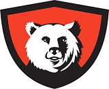 California Grizzly Bear Head Smiling Crest Retro