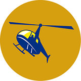 Helicopter Chopper Flying Circle Retro
