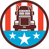 Truck USA Flag Circle Retro