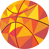 Basketball Ball Low Polygon