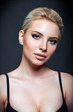 Closeup portrait of beautiful young woman