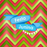 Festa Junina Holiday Background. Traditional Brazil June Festiva