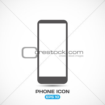 Flat Style Modern Phone Icon Vector Illustration