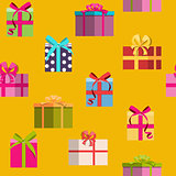 Gift Box Holiday Seamless Pattern Background