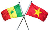 Senegal flag with Vietnam flag, 3D rendering