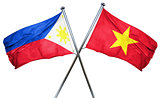 Philippines flag with Vietnam flag, 3D rendering