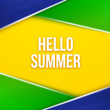 Hello summer. Geometric vector background
