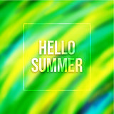 Hello summer blurred background with Brazil colors