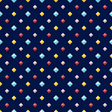 Seamless pattern with colorful flat diamonds