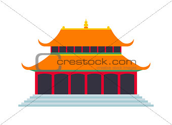 Beautiful china travel landmarks chinese temple vector.