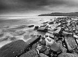 Cloudy Kimmeridge Bay_BW