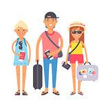 Summer vacation people illustration.