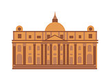 Museum building vector illustration.