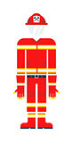 Firefighter costume vector illustration.