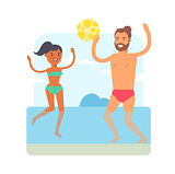 Beach games vector illustration.