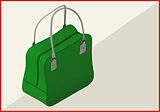 bag isometric flat vector 3d