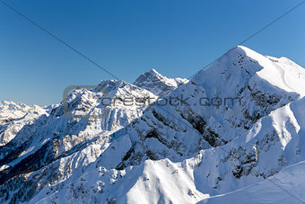 Aibga Ridge. Mountain Kamennyy stolb. 2509m. Sochi, Russia