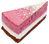 Strawberry Cream Cake Slice Cutout