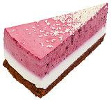 Strawberry Cream Cake Slice Cutout