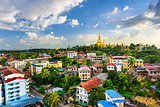 Yangon, Myanmar City Skyline