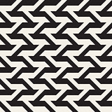 Vector Seamless Black And White Geometric Lines Pattern