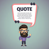 Quote Speech Banner and Hipster