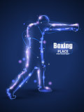 Motion design.Abstract boxing from dot,Blur and light. isolated on black background. Vector illustration
