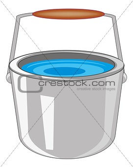 Pail with water