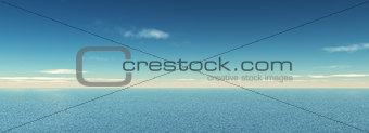 3D widescreen ocean landscape