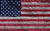 american flag background with a glittery effect