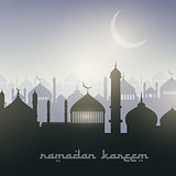 Ramadan landscape background