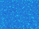 Blue pixel mosaic background. Vector illustration.