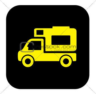 camper trailer icon