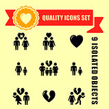 family concept quality icon set