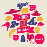Kinds of headwear. Part 1