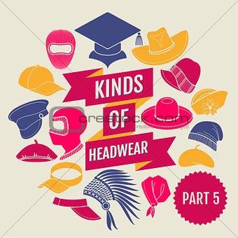 Kinds of headwear. Part 5