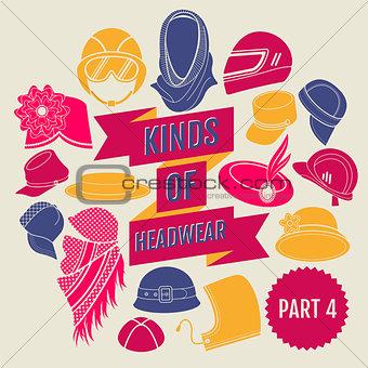 Kinds of headwear. Part 4