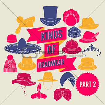 Kinds of headwear. Part 2