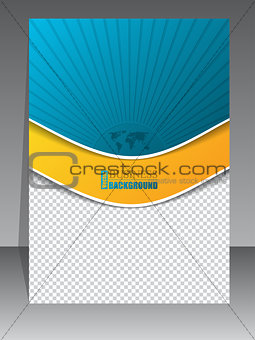 Abstract brochure with bursting world map